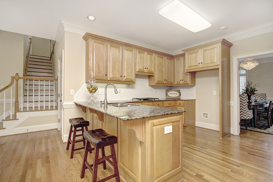 Lovely kitchen in Harrington custom home
