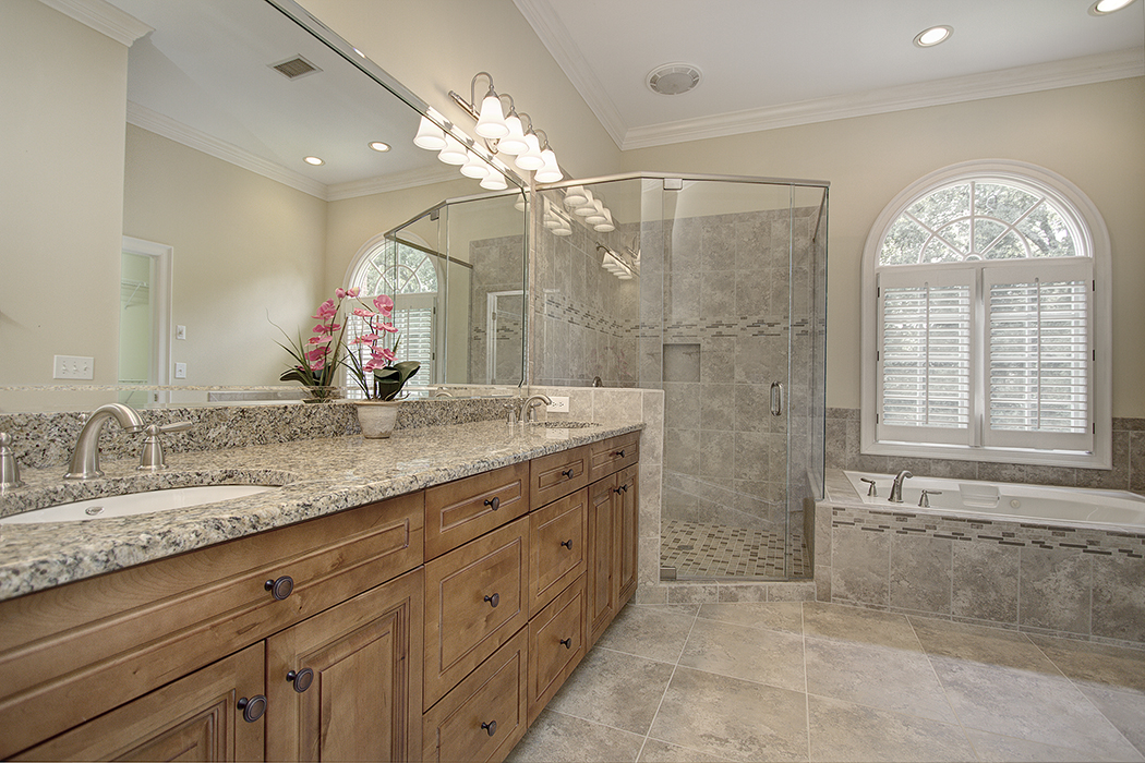WOW master bath in this Providence Springs home for sale