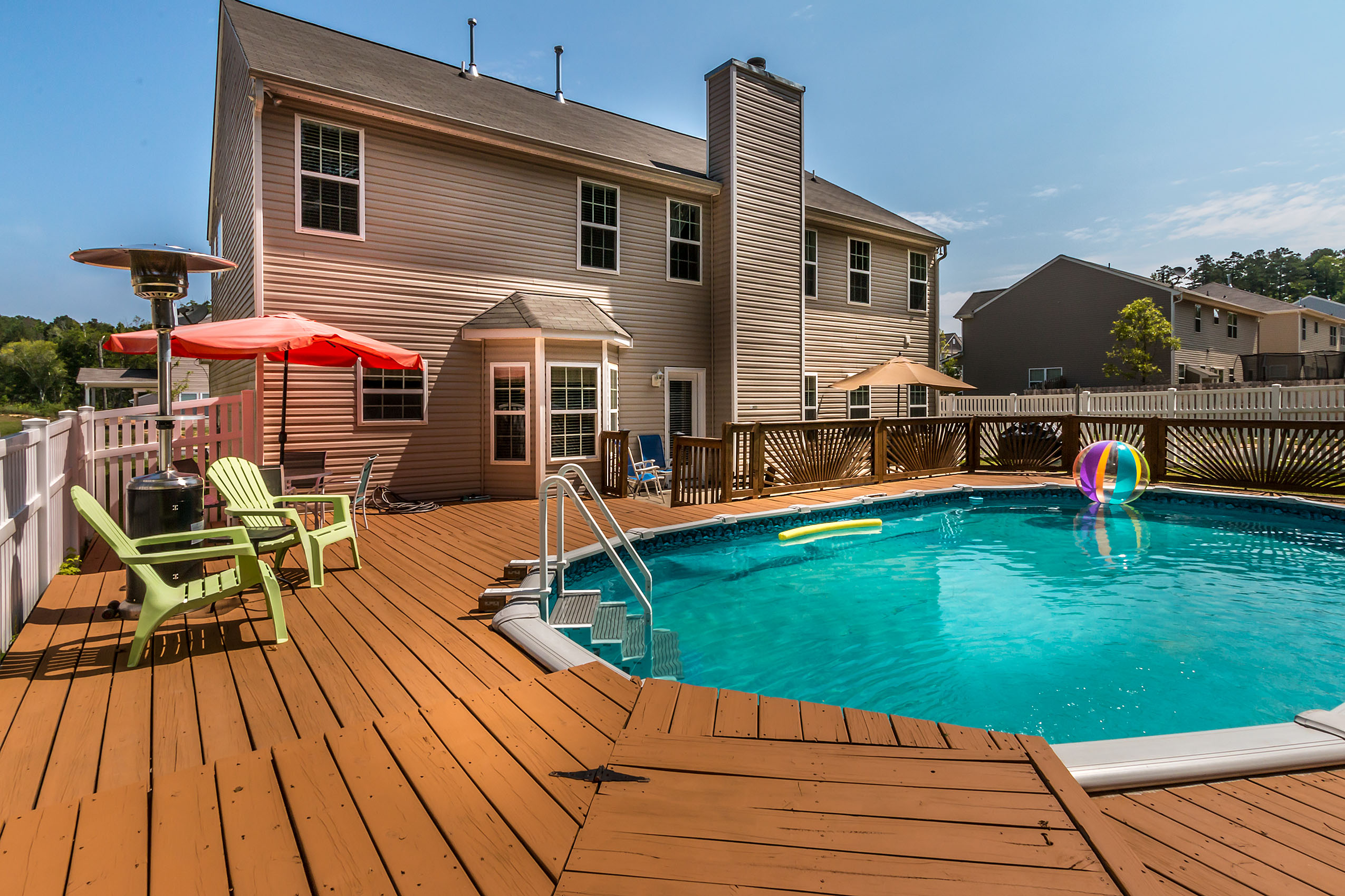 Just listed north charlotte home for sale with swimming pool for Houses for sale pool