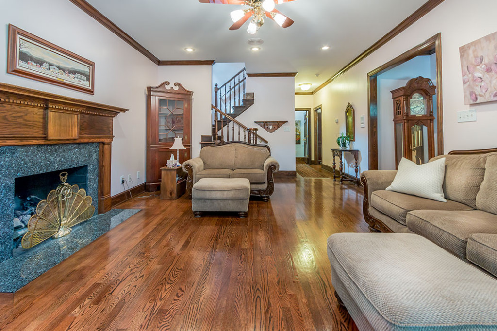 Hardwoods on Main level in Victorian home for sale in Charlotte NC