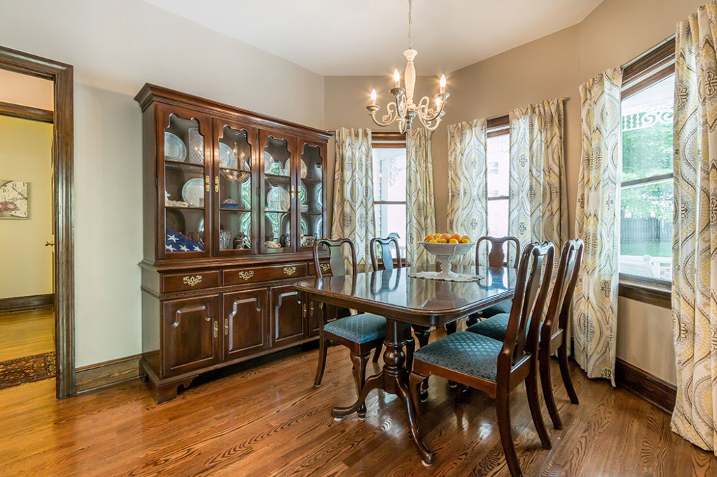 Formal dining room in Victorian home for sale Charlotte NC