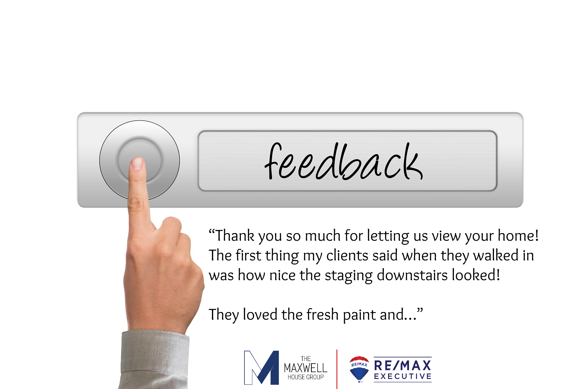 Sellers love showing feedback