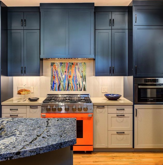 WOW Colorful kitchens in Charlotte