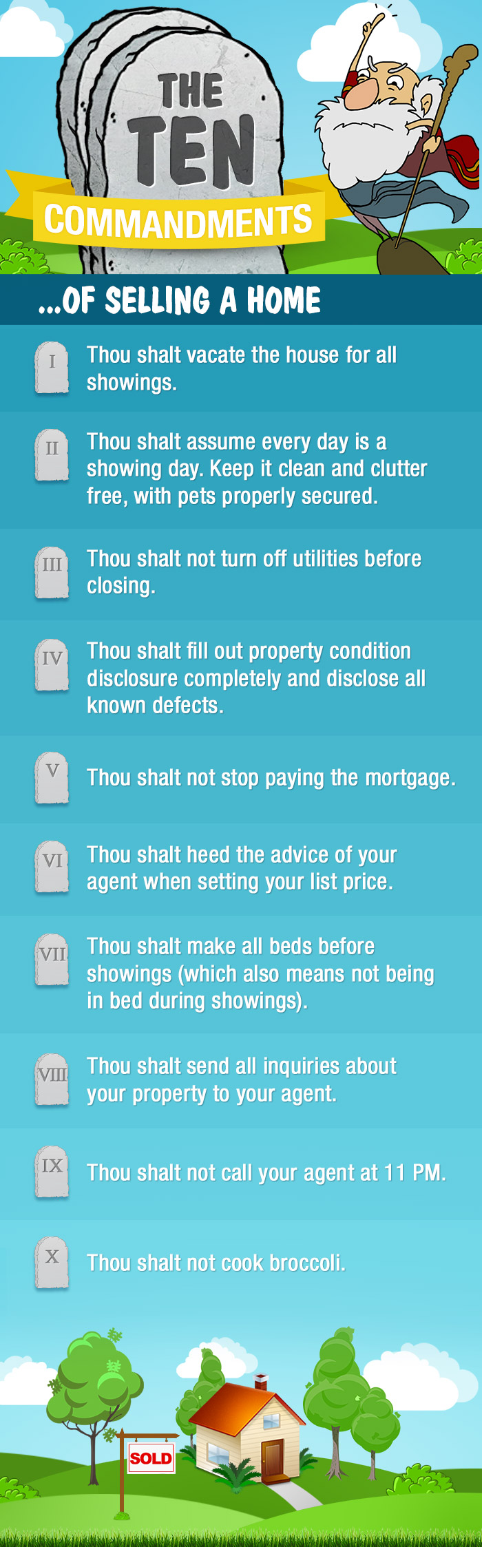 10 Commandments for Charlotte Home Sellers