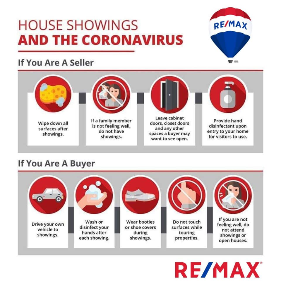 Coronavirus tips for buyers and sellers